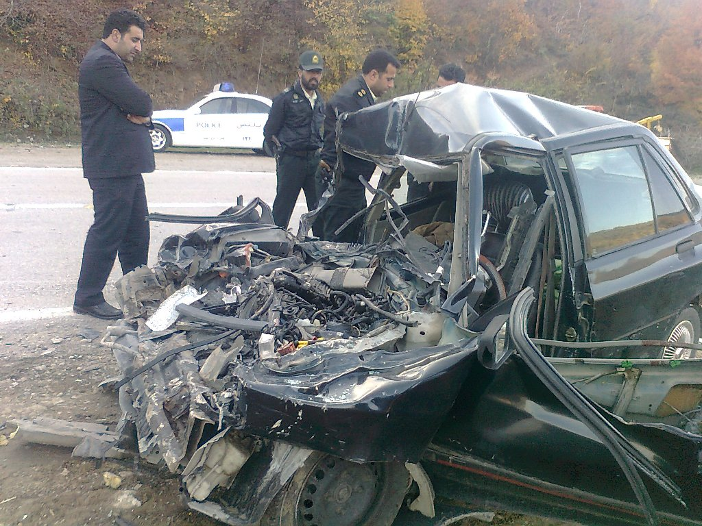 تصادف شدید در جاده ساری - کیاسر