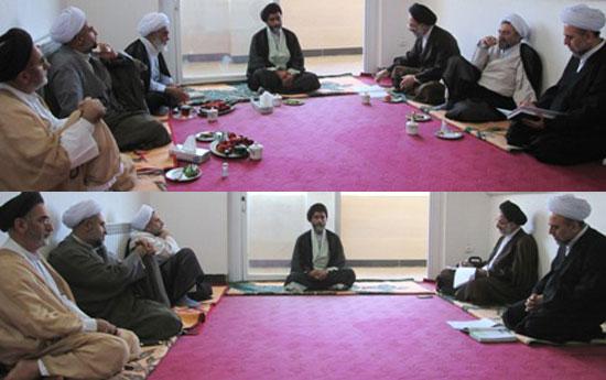 برگزاری مراسم انتخابات رئیس و دبیر جامعه روحانیت بخش چهاردانگه