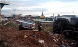 سریال تصادف خودرو در مازندران تمامی ندارد/برخورد کامیون و پیکان در جاده قائمشهر+عکس