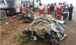 فوت ۴ سرنشین خودروی پراید بر اثر آتشسوزی