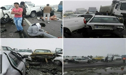 تصادف خونین در شهر زیراب/ ۶ مجروح و یک کشته