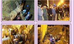 اجرای عملیات جابهجایی خط انتقال آب ساری در کمتر از ۶ ساعت