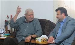 دیدار فرماندار ساری با نخستین فرماندار انقلاب اسلامی در مرکز مازندران