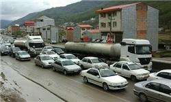 ترافیک سنگین در تمام محورهای مازندران