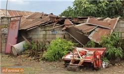 خسارت طوفان به ۲۰۰ منزل و دامداری در یانهسر بهشهر