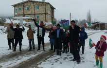 گزارش تصویری راهپیمایی به مناسبت روز ۲۲ بهمن روستای پشرت