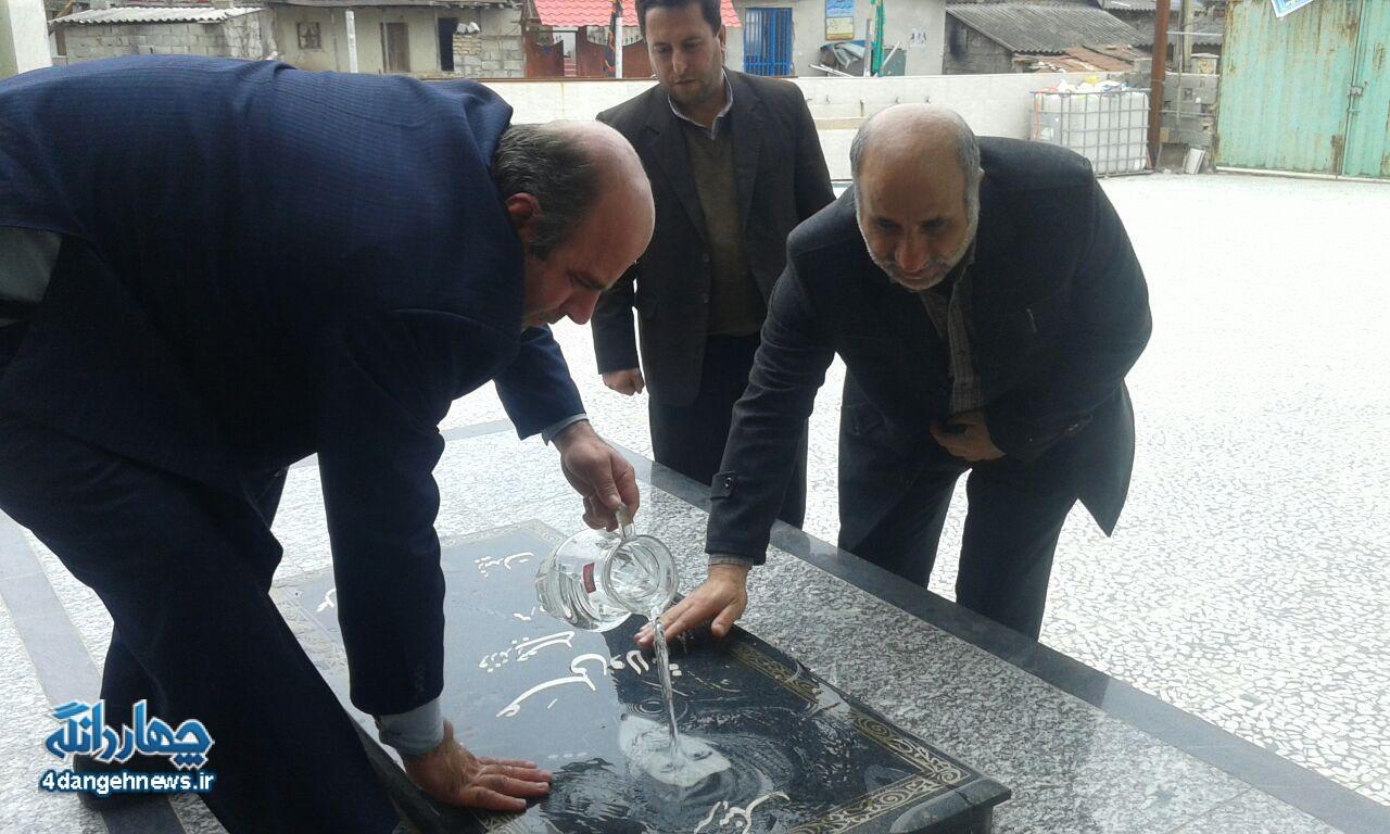 ادای احترام شورای اسلامی بخش چهاردانگه، به شهدای روستای کسوت