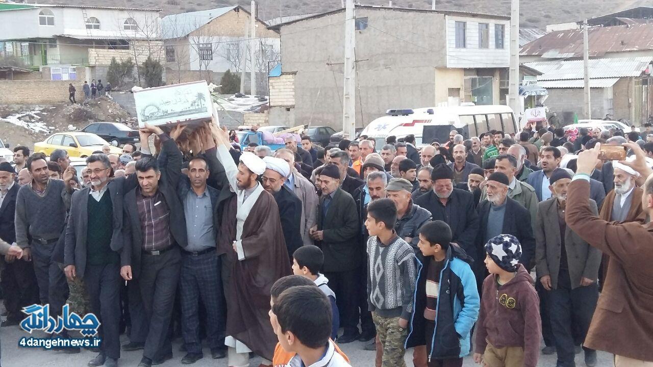 آغاز تشییع پیکر دو تن از شهدای گمنام دفاع مقدس در شهر کیاسر