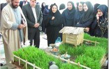 جشنواره سفره هفت سین، در دبیرستان زینبیه کیاسر برگزار شد
