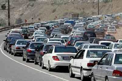 ترافیک سنگین محور کیاسر ساری