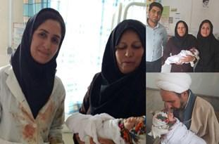 تولد در سلامت کامل نوزاد در مرکز درمانی تلمادره  + عکس