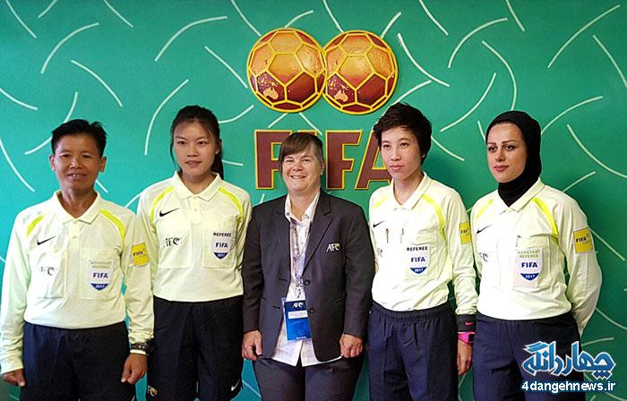 کره جنوبی ازبکستان چهارمین قضاوت سمانه محسنی کیاسری