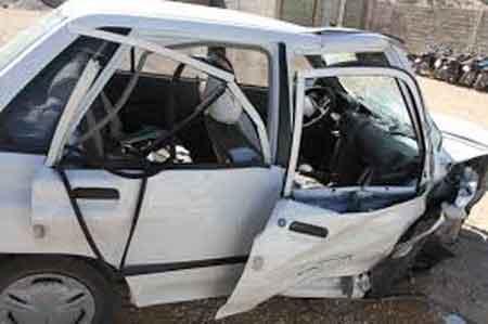 زخمی شدن 8 سرنشین خودروی پراید در جاده دریای ساری