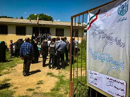 تصاویری از روند برگزاری انتخابات در روستای لنگر + حاشیه ها
