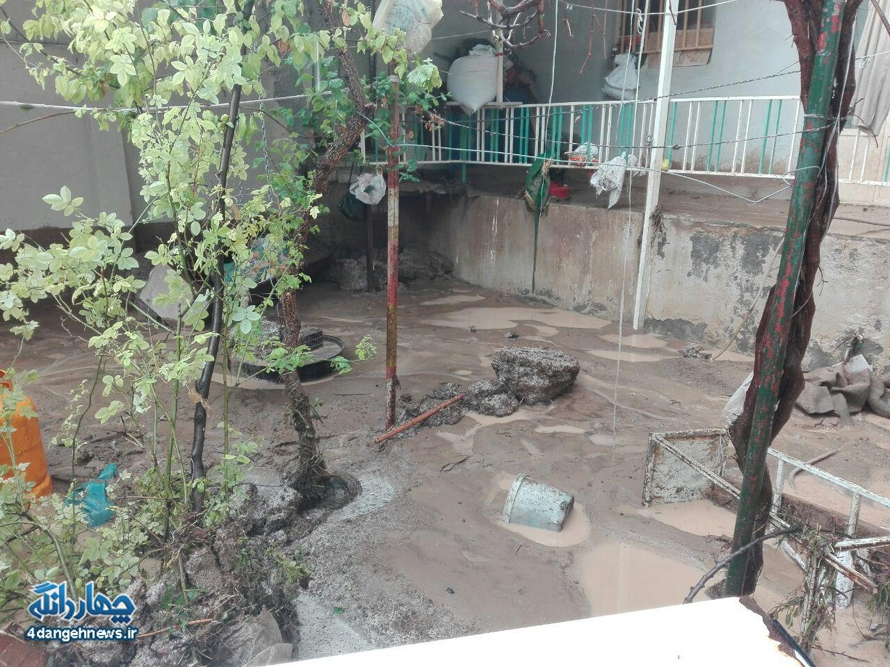 گزارش تصویری از سیل روز چهارشنبه بخش چهاردانگه