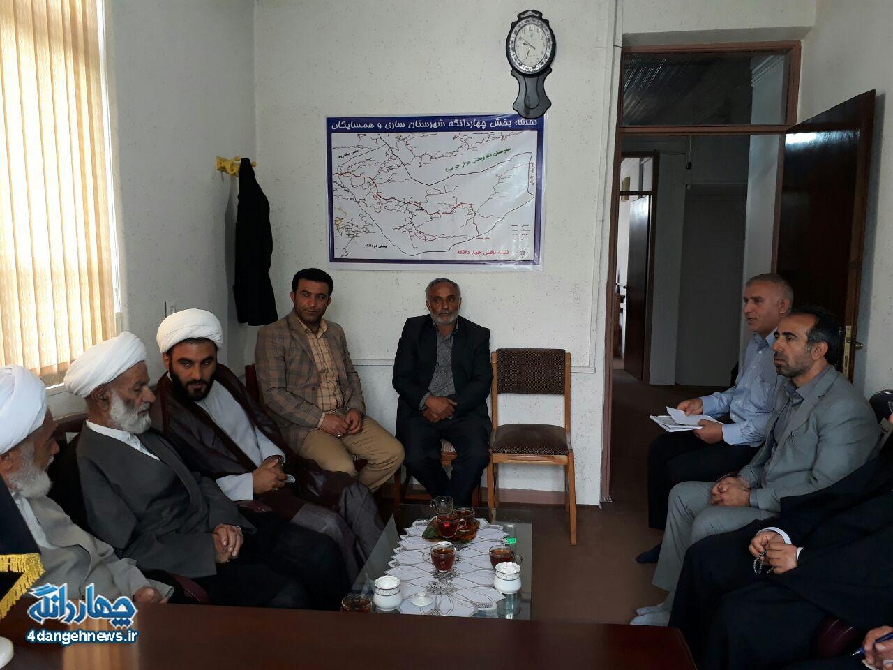 جلسه شورای زکات بخش چهاردانگه برگزار شد