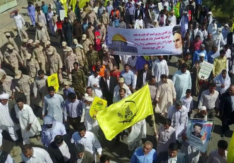 آغاز راهپیمایی مردم علوی تبار مازندران/فریاد استکبارستیزی مازنیها در روز قدس