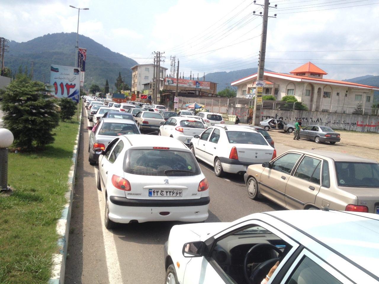 ترافیک سنگین، روز عید فطر در جاده های مازندران