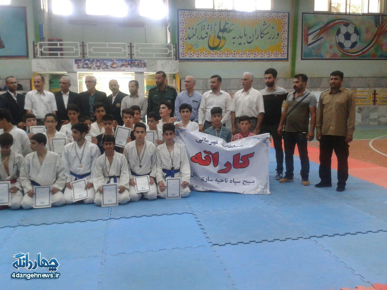 مسابقات کاراته بسیج شهرستان ساری در رده نوجوانان برگزار شد