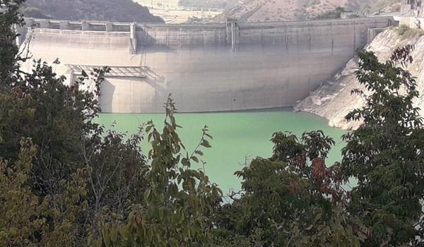 کاهش قابل ملاحظه ذخیره آبی سد شهید رجایی ساری+تصاویر