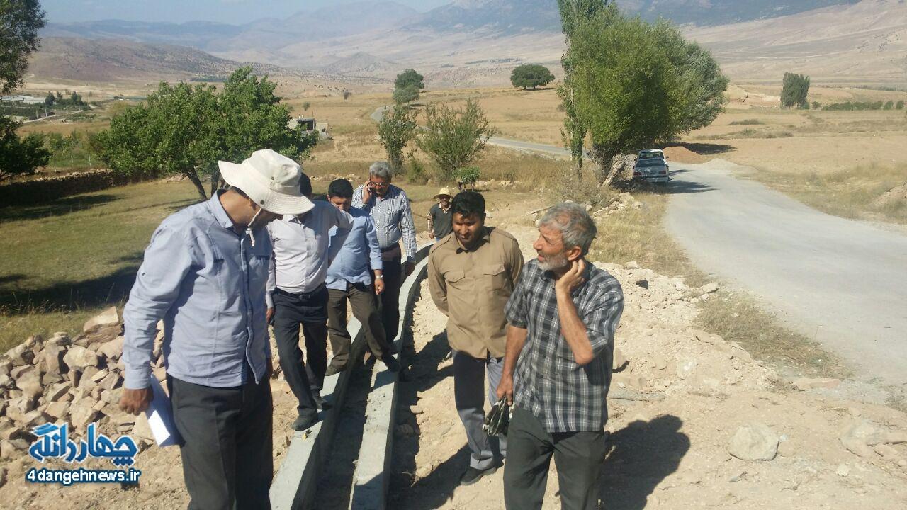 بازدید از طرح های در حال اجرای قرارگاه پیشرفت وآبادانی دهستان پشتکوه +تصاویر