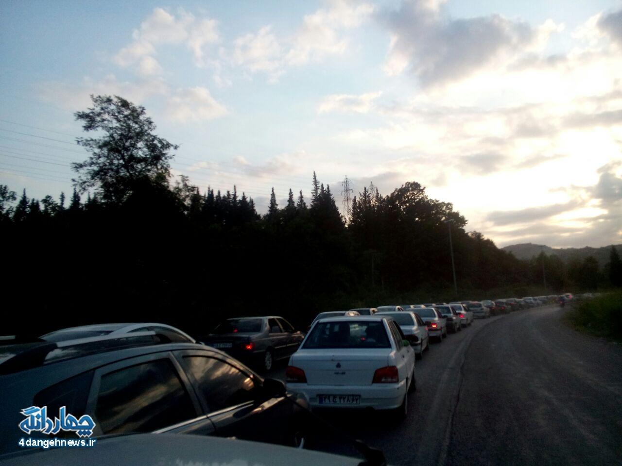 فوری: جاده تاکام - ساری  یک طرفه شد + تصاویر