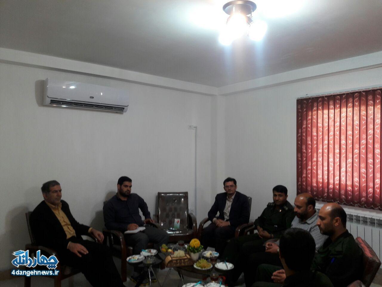 جلسه مشترک سپاه چهاردانگه با اعضای شورای شهر کیاسر