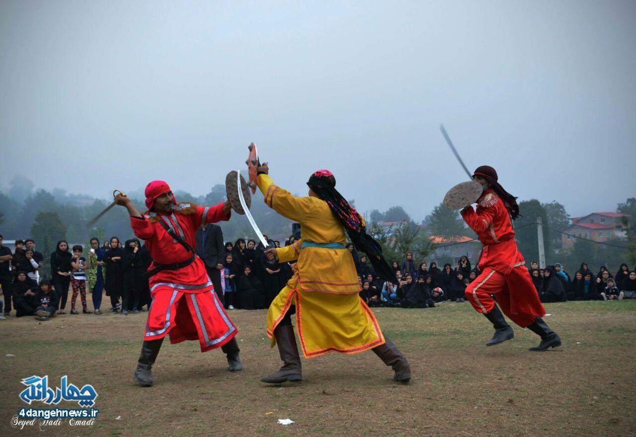 گزارش تصویری از اجرای تعزیه حر در روستای سرخ ولیک( محرم 1396)