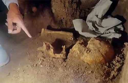 فیلم:نمای درونی گوردخمه وستمین و توضیحاتی در مورد اسکلت سرباز اشکانی