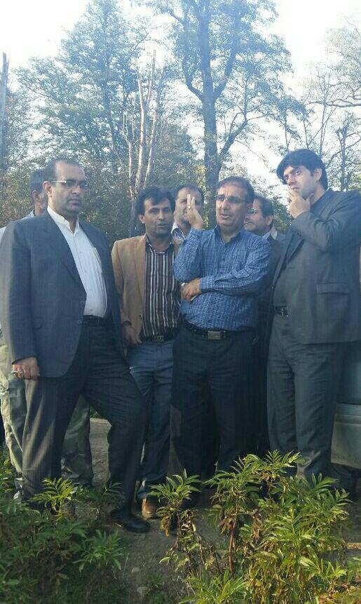 بازدید مهندس دامادی و تعدادی از مسئولین استان و شهرستان ساری از چهاردانگه