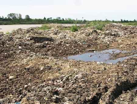 گزارش تصویری از دپوی زباله در مرز مازندران و سمنان