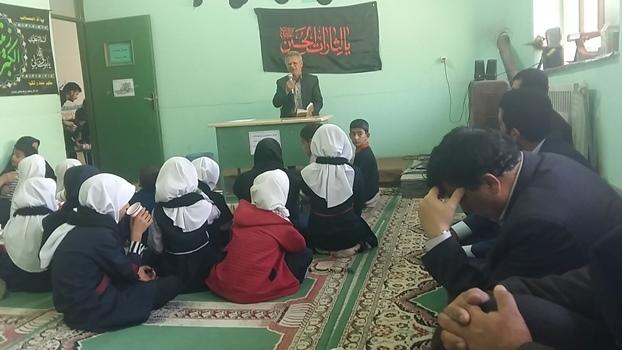مراسم اربعین حسینی در مدارس منطقه چهاردانگه برگزار شد+ تصاویر
