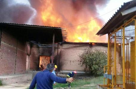 وقوع دو آتش سوزی بزرگ در شهرستان بهشهر