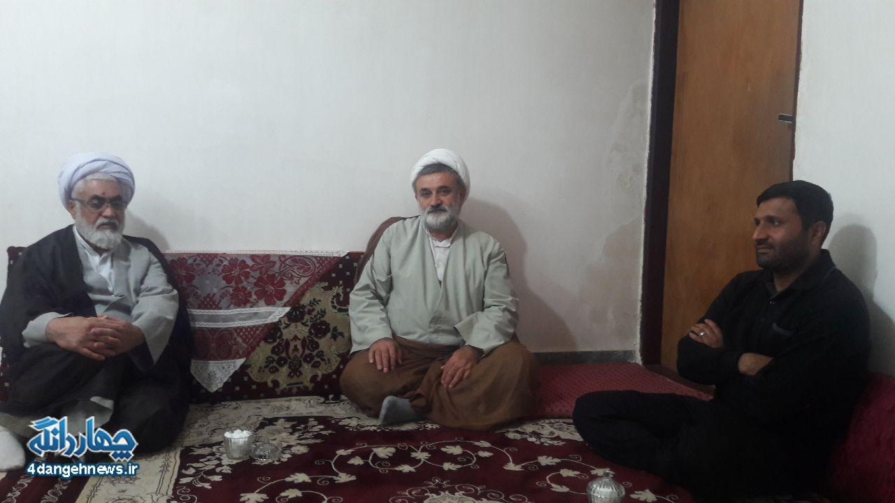 دیدار امام جعمه و فرمانده سپاه چهاردانگه با خانواده شهید قلی پور