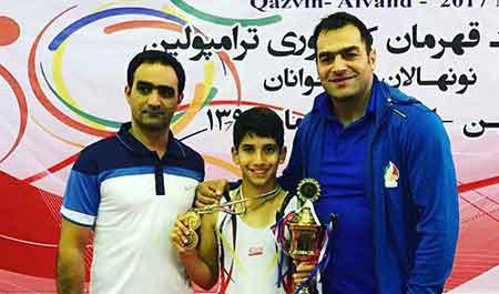 قهرمانی نوجوان چهاردانگه ای در مسابقات ژیمناستیک قهرمانی کشور