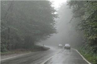 مهآلود بودن ارتفاعات کندوان و کیاسر