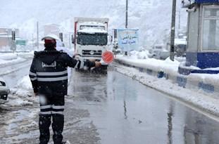 تمام محورهای مازندران لغزنده است/بارش برف در ارتفاعات کیاسر