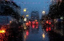 بارش باران در محورهای مواصلاتی مازندران