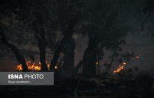 آتش سوزی در جنگل اشکته چال رامسر