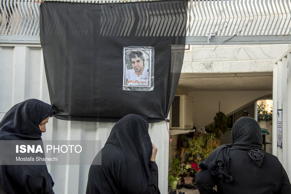 مراسم ترحیم افسر سوم نفتکش سانچی - قائمشهر