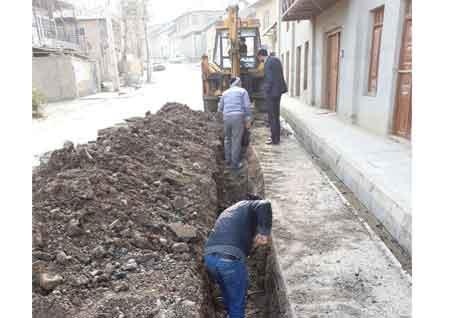اصلاح 1000 متر از شبکه آب شهر کیاسر (عکس )