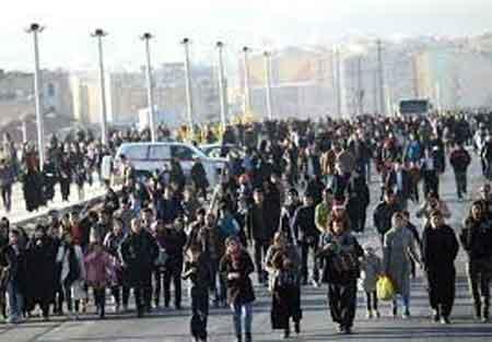 پیاده روی خانوادگی بانوان مازندران در کیاسر برگزار می شود