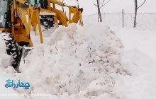 فیلم: حجم برف اخیر و عملیات برف روبی در روستای چورت