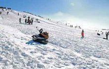 آسیبدیدگی 10 نفر در پیست برف کیاسر