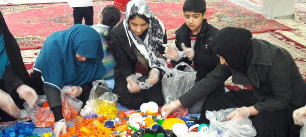 جشن تفکیک رنگ درب بطری های پلاستیکی امروز در کیاسر برگزار شد + تصاویر