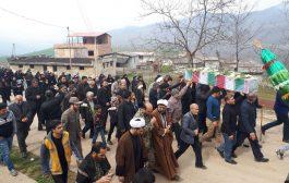 گزارش تصویری تشییع پیکر مطهر شهید گمنام در بخش چهاردانگه - روستای قادیکلا