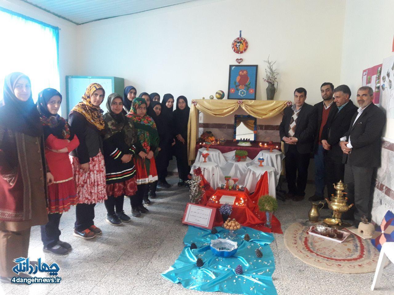 جشنواره سفره هفت سین در مدارس چهاردانگه اجرا شد + تصاویر