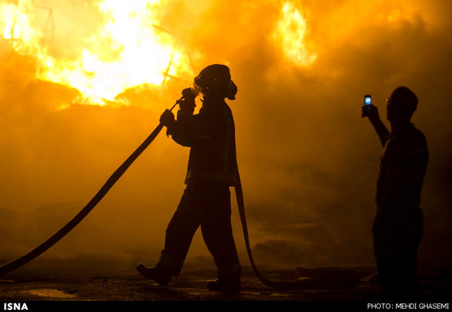 آتش سوزی قهوه خانهای در چالوس 15 مصدوم به جا گذاشت