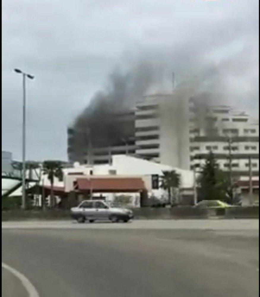 یک کشته و هفت مصدوم در آتش سوزی هتل بانک مرکزی نوشهر