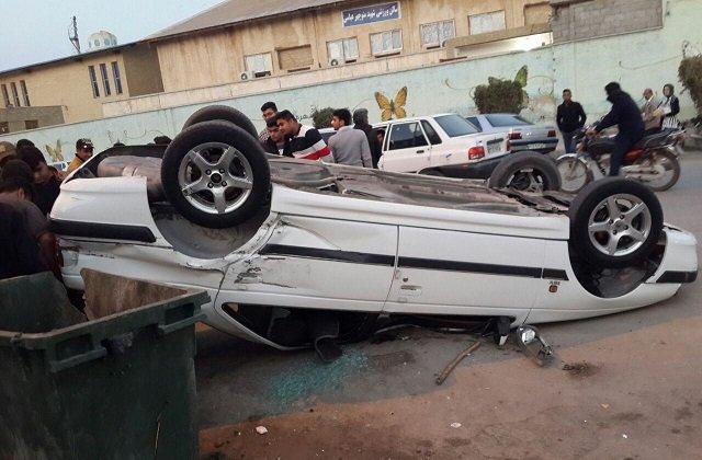 واژگونی خودرو در چمستان مازندران سه قربانی گرفت